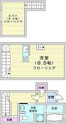 仙台市営南北線 河原町駅 徒歩12分の賃貸アパート 1階ワンルームの間取り