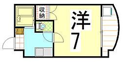 サンシャイン金閣寺[3階]の間取り
