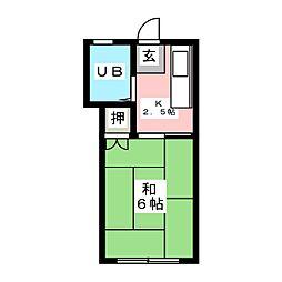 メゾンDフォース[1階]の間取り