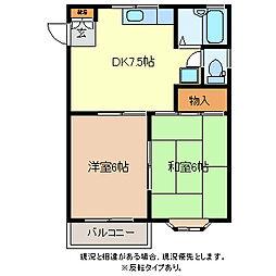フェアハウス21[2階]の間取り
