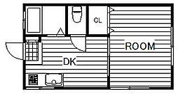 千葉県船橋市海神5丁目の賃貸アパートの間取り