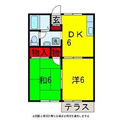 プチパレス[1階]の間取り