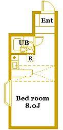 ベルピア弘明寺II[1階]の間取り