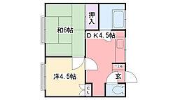 福岡県糸島市前原中央3丁目の賃貸マンションの間取り