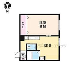 JR山陰本線 亀岡駅 バス9分 南条局前下車 徒歩5分の賃貸マンション 3階1DKの間取り