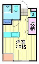 中山ファームアパートメント南棟bt[402kk号室]の間取り