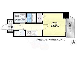 名鉄名古屋本線 金山駅 徒歩8分の賃貸マンション 3階1Kの間取り