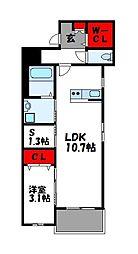 モアプラス門松駅前 4階1SLDKの間取り
