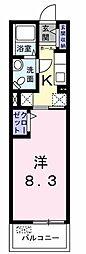 パピヨン ガーデン[0202号室]の間取り