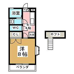 プチ・シャトー[1階]の間取り