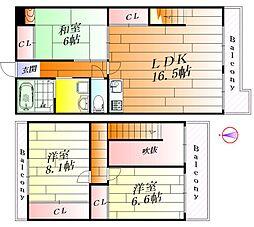 メゾンサクラ16[4階]の間取り