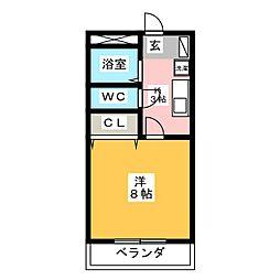 メゾンパンセ[3階]の間取り