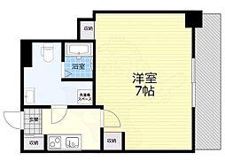 阪神本線 福島駅 徒歩2分の賃貸マンション 4階1Kの間取り
