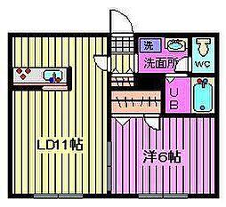ハピネスルーム10[1階]の間取り