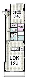 JR横須賀線 逗子駅 徒歩9分の賃貸マンション 2階1LDKの間取り