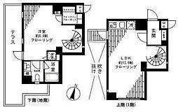 FLEG目黒平町[-1階]の間取り