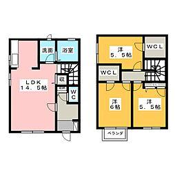 [テラスハウス] 静岡県島田市船木 の賃貸【/】の間取り