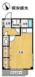 メゾン・ドゥ・エルミタージュ 4階ワンルームの間取り