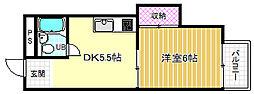 ハイツコトブキ[3階]の間取り