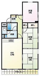 エトワール林崎[2階]の間取り