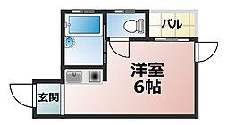 コムーネ六甲[2階]の間取り