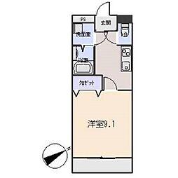 愛知県岡崎市坂左右町字堤上の賃貸アパートの間取り