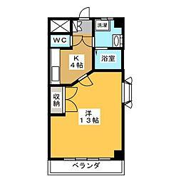 メゾンドベル8[2階]の間取り