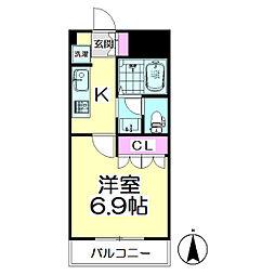 東京都足立区伊興2丁目の賃貸マンションの間取り
