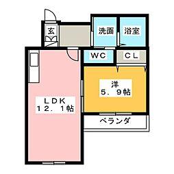 ディーマークII[3階]の間取り