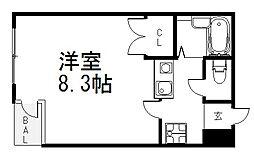 京都府京都市下京区東洞院通五条下る3丁目和泉町の賃貸マンションの間取り