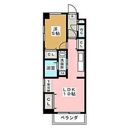 エルザ センティア筒井[5階]の間取り