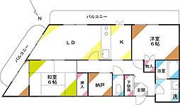 細井第二ビル[203号室]の間取り