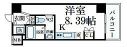 阪神本線 深江駅 徒歩1分の賃貸マンション 7階ワンルームの間取り