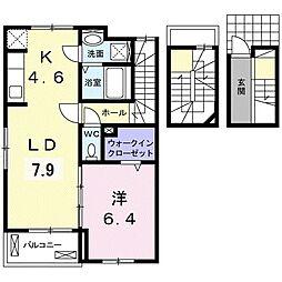 ノースカントリーA 3階1LDKの間取り
