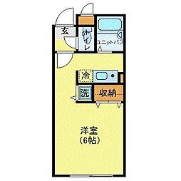 MODULOR武蔵野中町 1階ワンルームの間取り