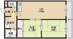 クレインストリート松本[4階]の間取り