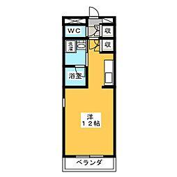 サンアイハイツ[1階]の間取り