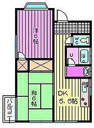 曽山コーポ[101号室]の間取り