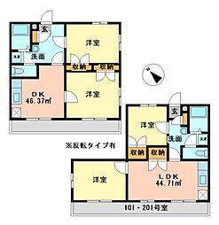 兵庫県神戸市西区大沢2丁目の賃貸アパートの間取り