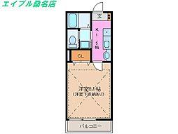 三重県桑名市大字播磨の賃貸アパートの間取り