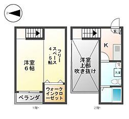 Grandole志賀本通I・II[1階]の間取り