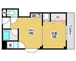 大阪府堺市堺区車之町西2丁の賃貸マンションの間取り