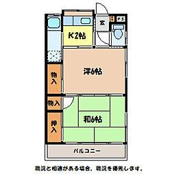 白沢荘[1階]の間取り