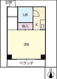 三ツ藤ビル[3階]の間取り