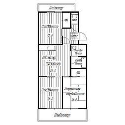 サンパーク幕張台[1階]の間取り