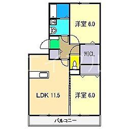 パストラル A棟[2階]の間取り