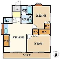 TMハウス 201[2階]の間取り