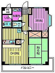 西川口パインマンションII[7階]の間取り