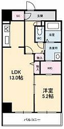 JR高徳線 栗林公園北口駅 徒歩6分の賃貸マンション 8階1LDKの間取り