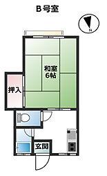 ユタカハウス[B号室号室]の間取り